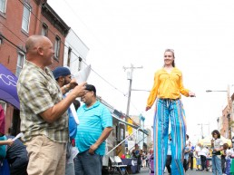 Stilt Walker Fairhill Free Streets Philly