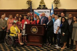 UnidosPAPR City Hall Puerto Rican Philadelphia Fairhill